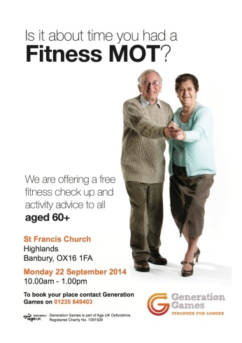 Fitness MOT poster Banbury